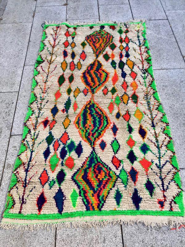Cosa boucherouite teppe fra Marokko vevd for hånd