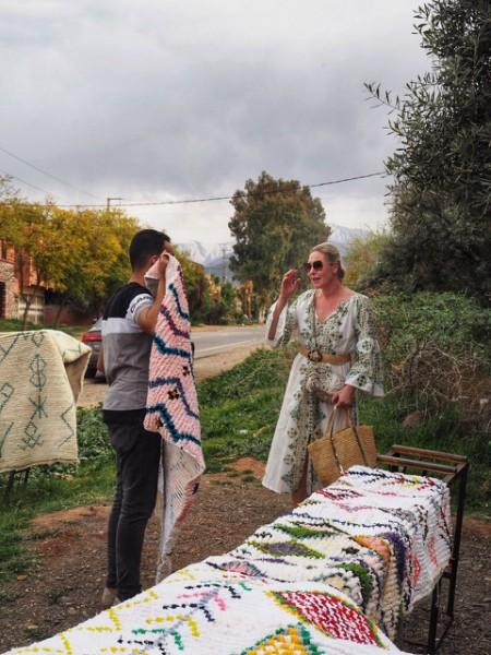 Marokkanske tepper i Marrakech