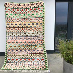Vakkert Ourika teppe håndvevd i 100% ull. Vakre, klare farger.