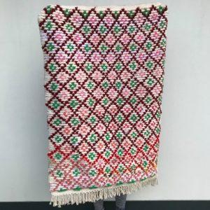 Boucherouite teppe i nydelige farger. Vevd for hånd og helt unikt.