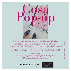 Velkommen til POP-UP shop I Oslo i desember. Vi kommer med et håndplukket utvalg fantastiske tepper vevd for hånd i Marokko!