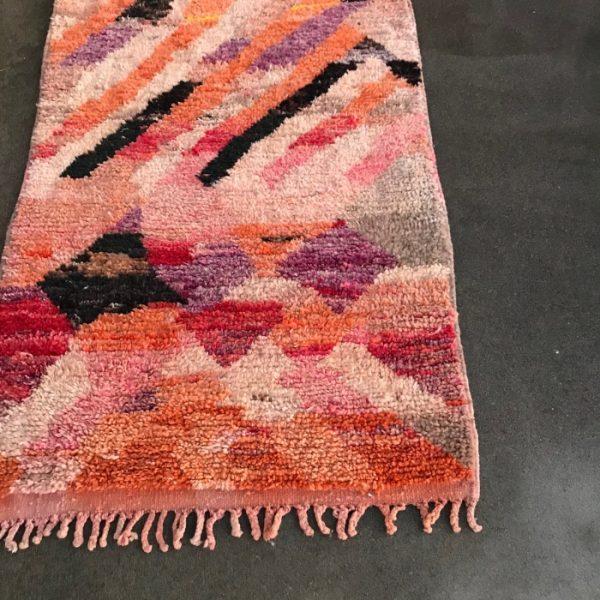Håndvevd Bejaad løper fra Marokko. Vintage, nydelige farger!