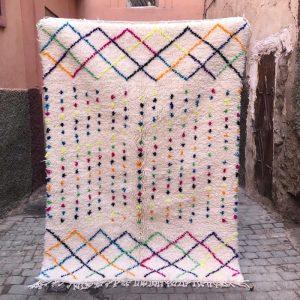 Beni Ourain teppene kan bestilles i ønsket mål, mønster og farge.