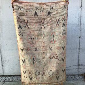 Vintage berberteppe i sarte farger. Nydelig og unikt!