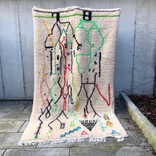 Marokkanske tepper: Et lekent og kult Azilalteppe ligger nå i nettbutikken!
