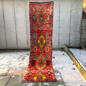 Fargerikt vintageteppe fra Marokko søker nytt hjem!