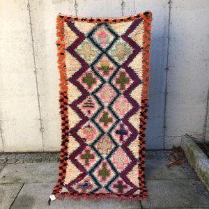 Lite vintageteppe fra Marokko i friske farger!