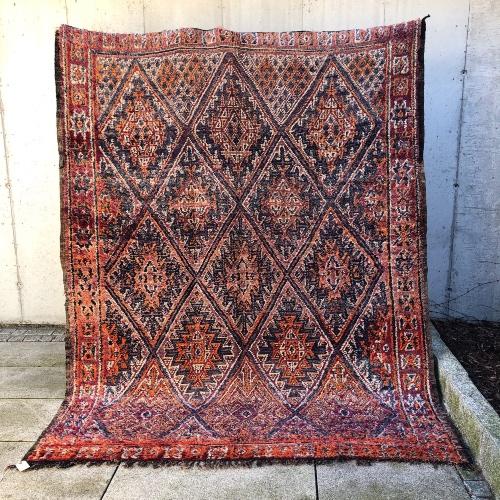 Et vintageteppe fra Marokko for deg som liker å omgi deg med farger!
